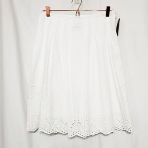 White Eyelet Skirt*NWT*Lined*Covington*Sz 8*